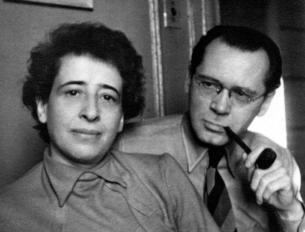 Hannah Arendt et son mari Heinrich