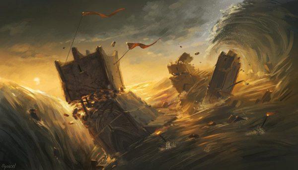 La destruction de Numénor
